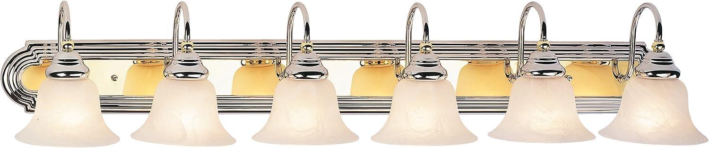 Livex Lighting 1006-52 Belmont 6-Light Bath Light, Chrome and Polished Brass