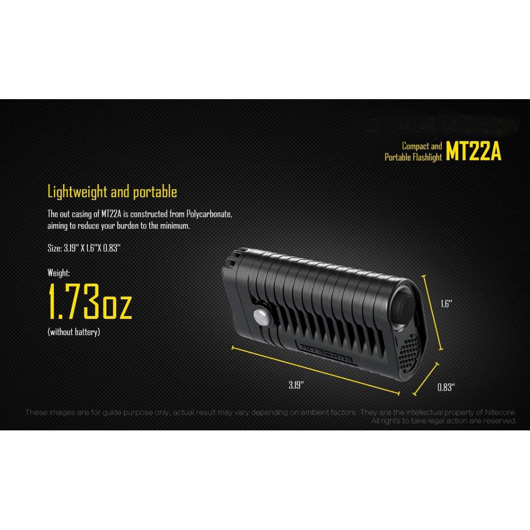 NiteCore MT22/A Multi-Task 260/lm Compact Torcia