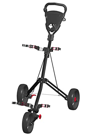 Spin It Golf Products Easy Roll Push Cart, Black