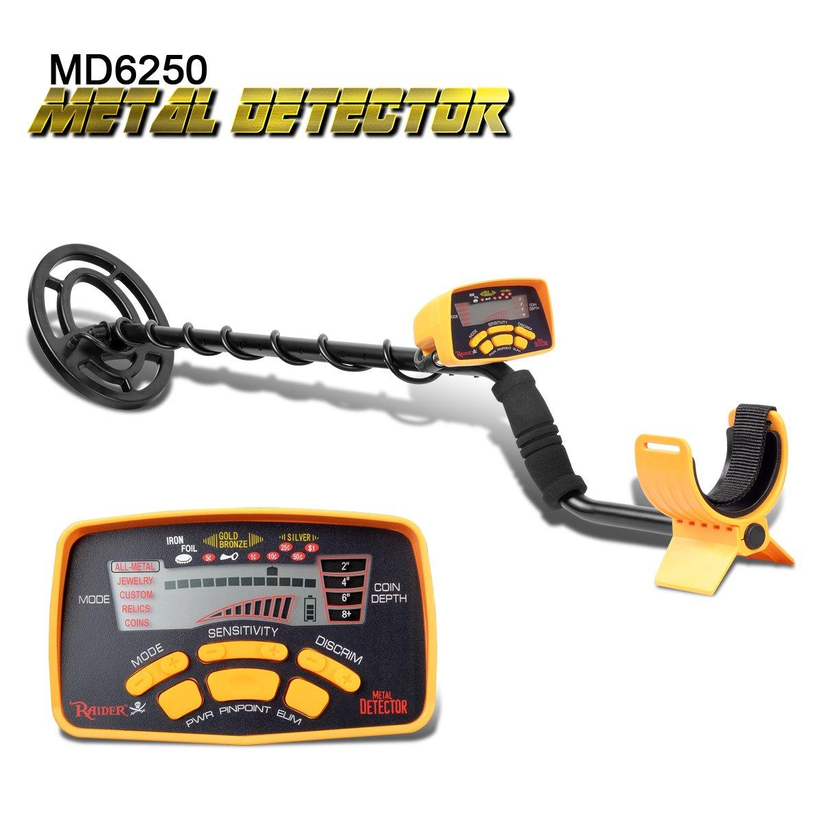 Detector de metales shuogou md-6250 profesional de alta sensibilidad impermeable Detector de metales subterráneo - caza del tesoro búsqueda pantalla LCD: ...