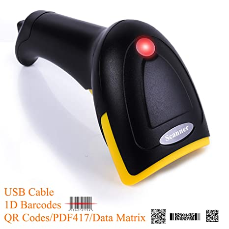 BQ-602 USB QR Code Scanner 1D Barcodes 2D PDF417 Data Matrix Automatic  Scanner,USB 2 0 Plug and Scan for Supermarket Cashier Windows/Android  PC,POS