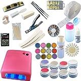 UV Lampe PINK 36W + 8 x 4 ml Gele + Zubehör