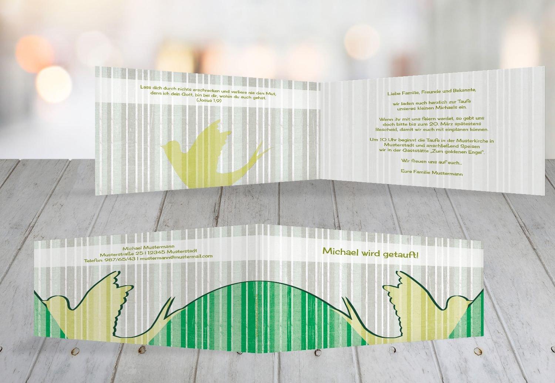 Kartenparadies Einladungskarte Taufeinladung Taufkarte Streifenharmonie, hochwertige Einladung Einladung Einladung zur Taufe inklusive Umschläge   100 Karten - (Format  215x105 mm) Farbe  OckerBeige B01N7Y1SWK   Elegant    Maßstab ist der Grundstein, Qualität ist Säule 4dc9b7