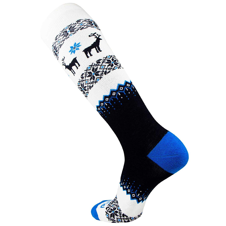 Pure Athlete Warm Ski Socks Merino Wool Winter Snowboard Sweater Deer Sock for Skiing