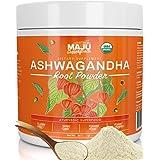 MAJU's Ashwagandha Powder - Organic Root, Supplements Anxiety Relief, Feel Good Mood, Use in India Moon Milk, Adaptogenic Nat