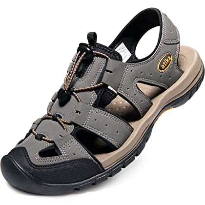 943f9e4adcd2 ... ATIKA AT-M108-GRY Men 11 D(M) Men s Sports Sandals Trail Outdoor ...