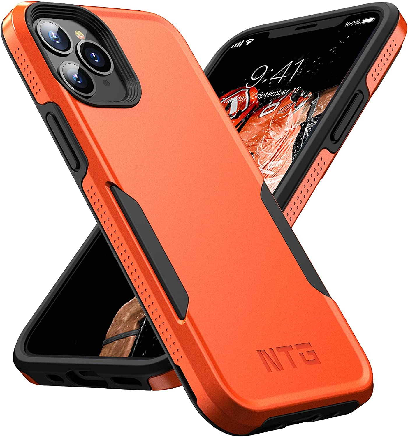 NTG [1st Generation] Designed for iPhone 11 Pro Max Case, Heavy-Duty Tough Rugged Lightweight Slim Shockproof Protective Case for iPhone 11 Pro Max 6.5 inch (Orange)