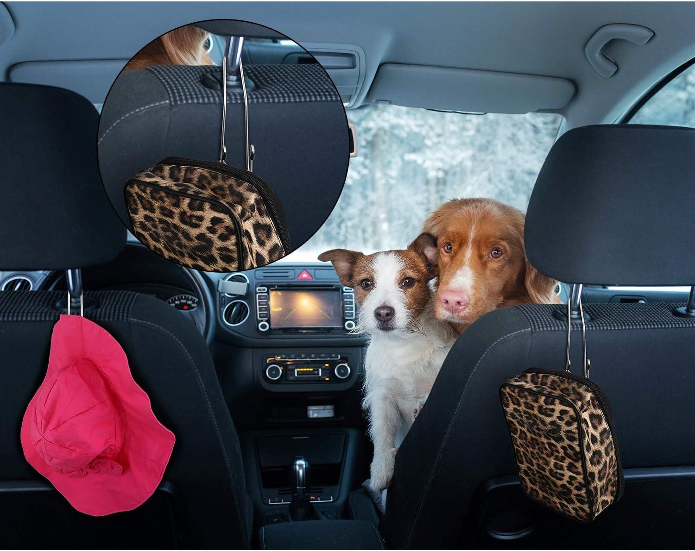 Transparent 8 Pieces Auto Hooks Car Headrest Hangers Organizer Headrest Hook Holder for Coat Clothes Back Purse Bag