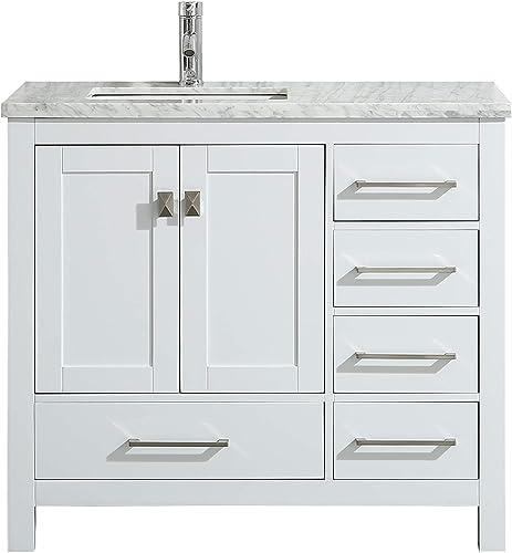 Eviva TVN414-36X18WH London 36 White bathroom vanity Combination