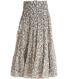 148bb766b8 Lauren Ralph Lauren Women's Tiered Floral Print Georgette Maxi Skirt