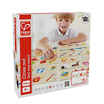 Hape Cross Out Kid's Wooden Sorting and Learning Game: Toys & Games