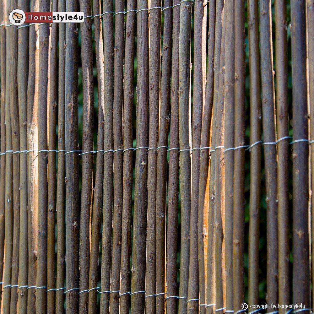 Homestyle4u Sichtschutz Sichtschutzmatte Weidenmatte Weidenzaun