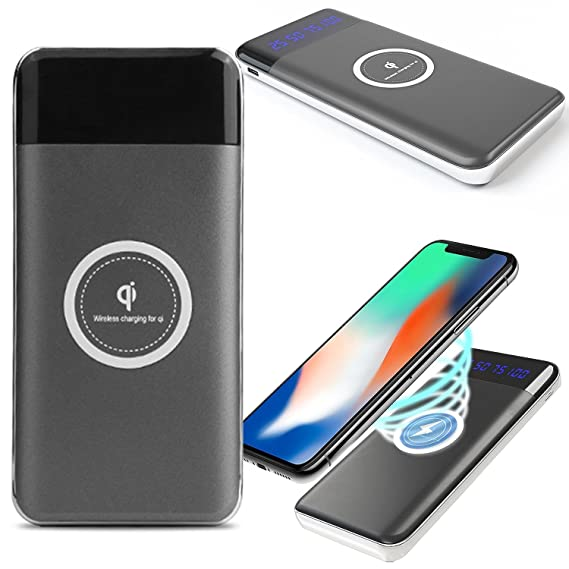 Amazon.com: Qi Wireless Charger Power Bank, CoverON 10000mah ...