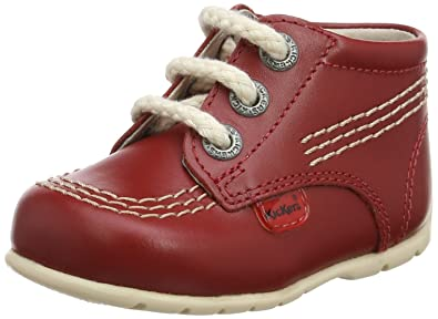 Kickers Kick Hi B Unisex Babies Walking Baby Shoes Red Red