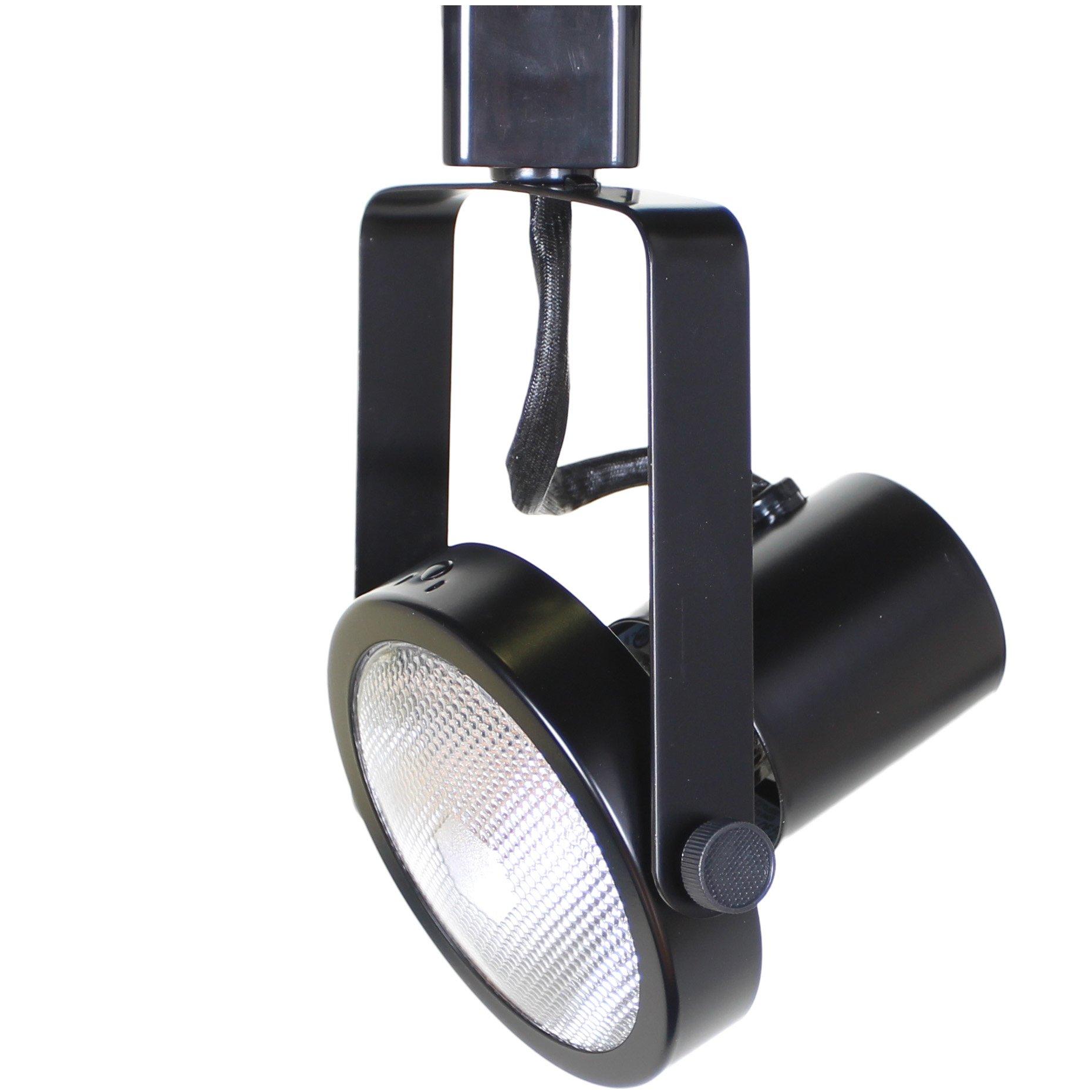 Direct-Lighting 50005 Black PAR30 Short Neck Gimbal Ring Line Voltage Track Lighting Head