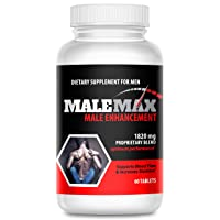 MaleMax Edge - Male Enlargement and Enhancement Pills - Increase Male Size Up to 3 Inches Fast- Performance Enhancer for Men - Powerful Formula for Length, Girth and Stamina- 30 Day Supply
