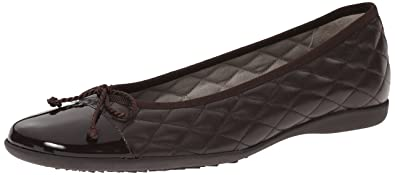 French Sole FS/NY Women's Passport R Ballet Flat, Brown Patent/Brown Leather