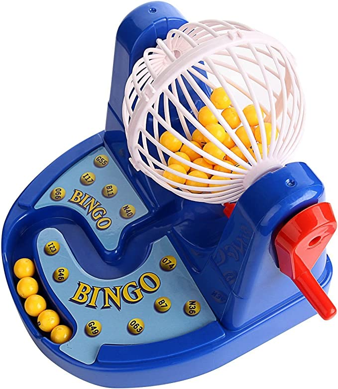 1pc Mini Bingo Cage Machine Lottery Game 24 Numbers 24 Balls for Kids Toy