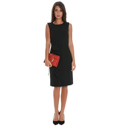 Botondi Vestito Donna W154641 Acetato Nero
