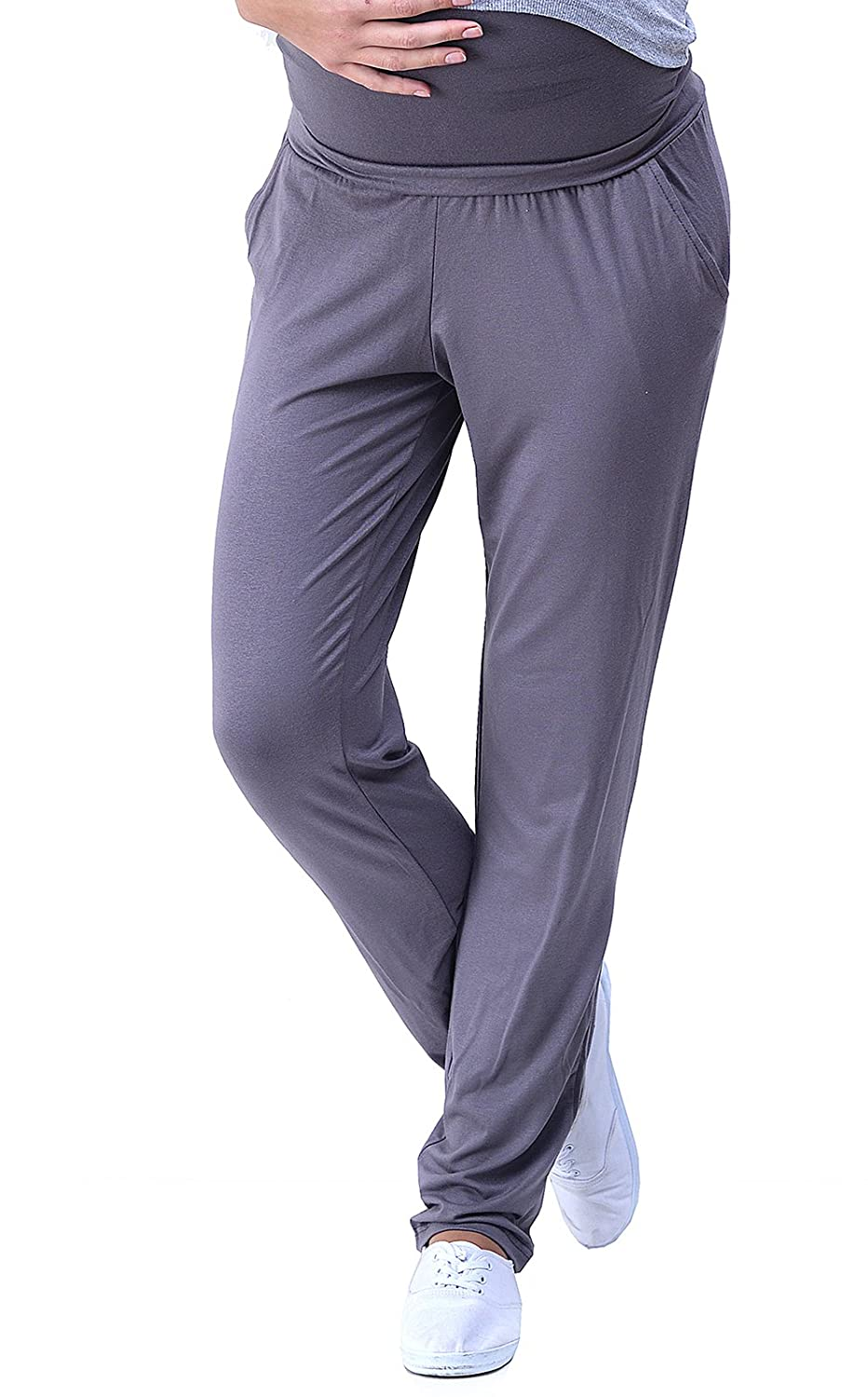 MijaCulture Maternity Casual Light Comfortable Trousers Pants Over Bump 4092