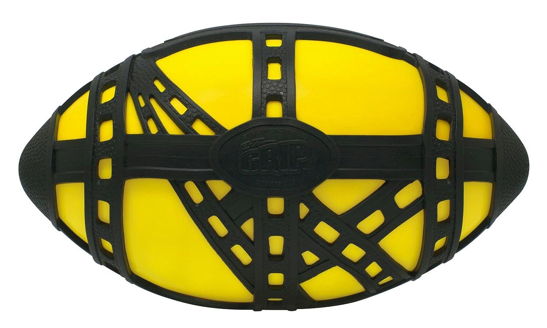 Pallone da football E-Z grip, con presa agevolata per prenderla e lanciarla facilmente, 22,23 cm, colore giallo e nero