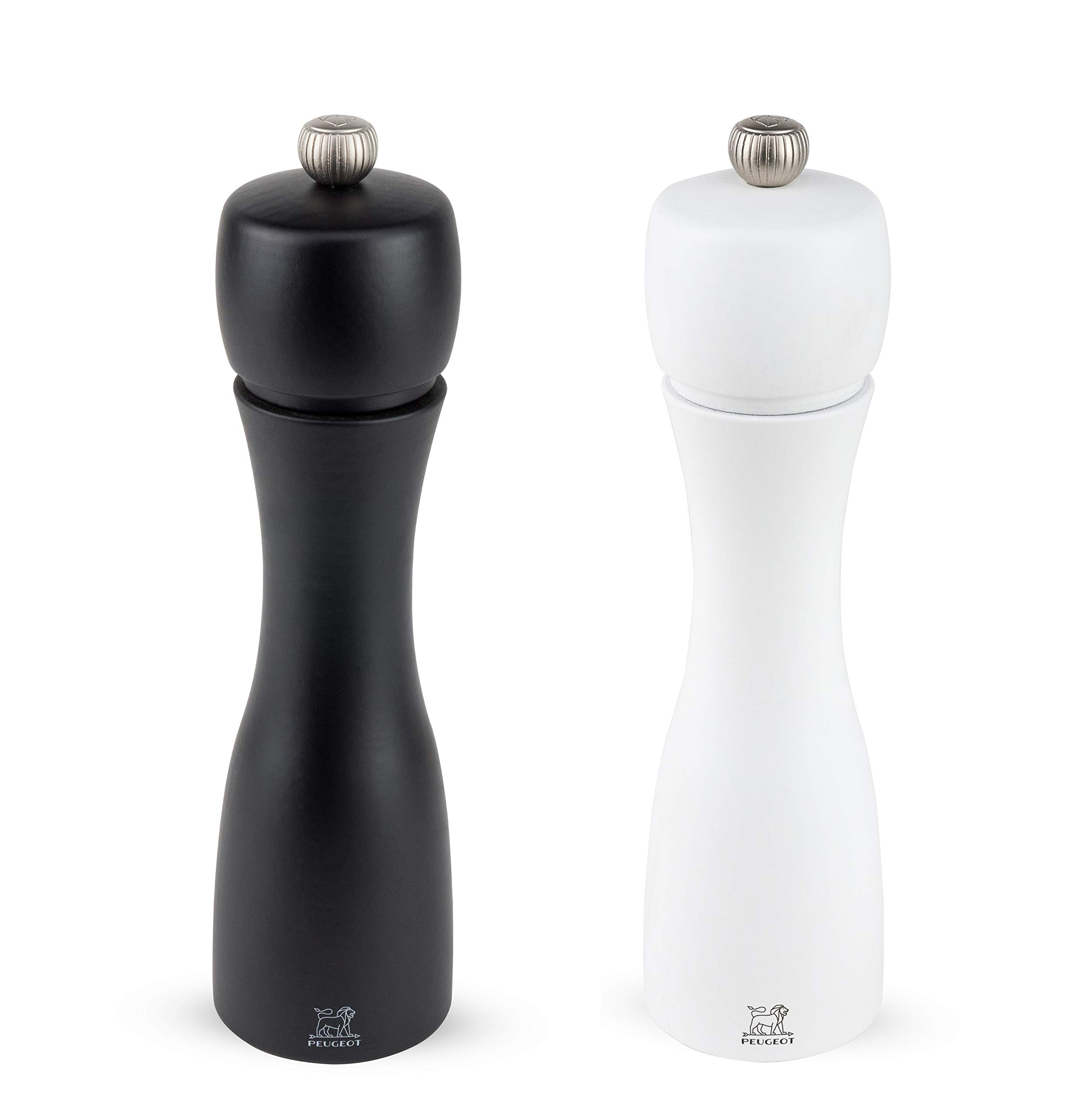 Peugeot Tahiti 8 Inch Black Pepper Mill and White Salt Mill Set by Peugeot
