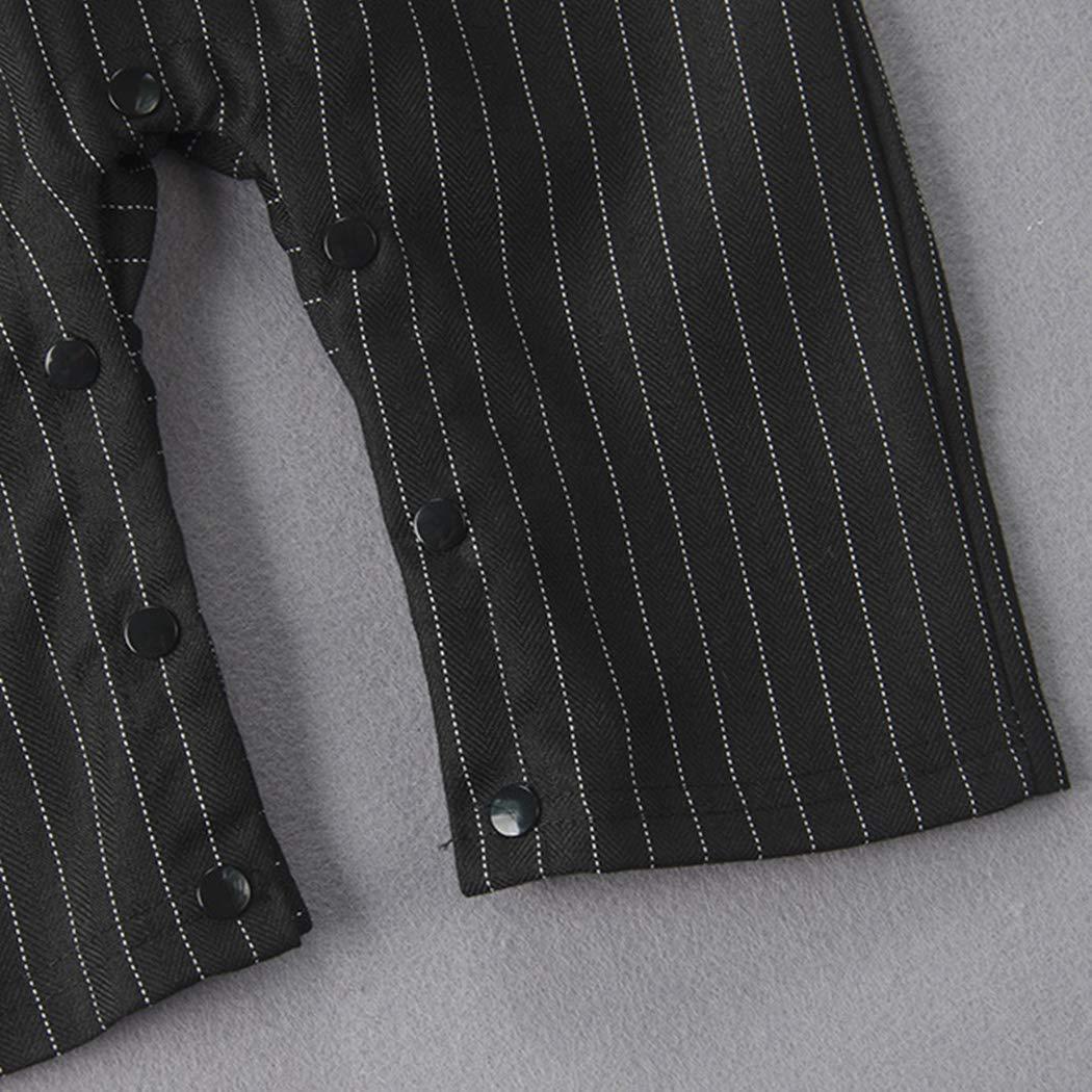 Nine Minow Baby Tie Striped Vest Formal Wear Wedding Baby Boy Romper Oneise