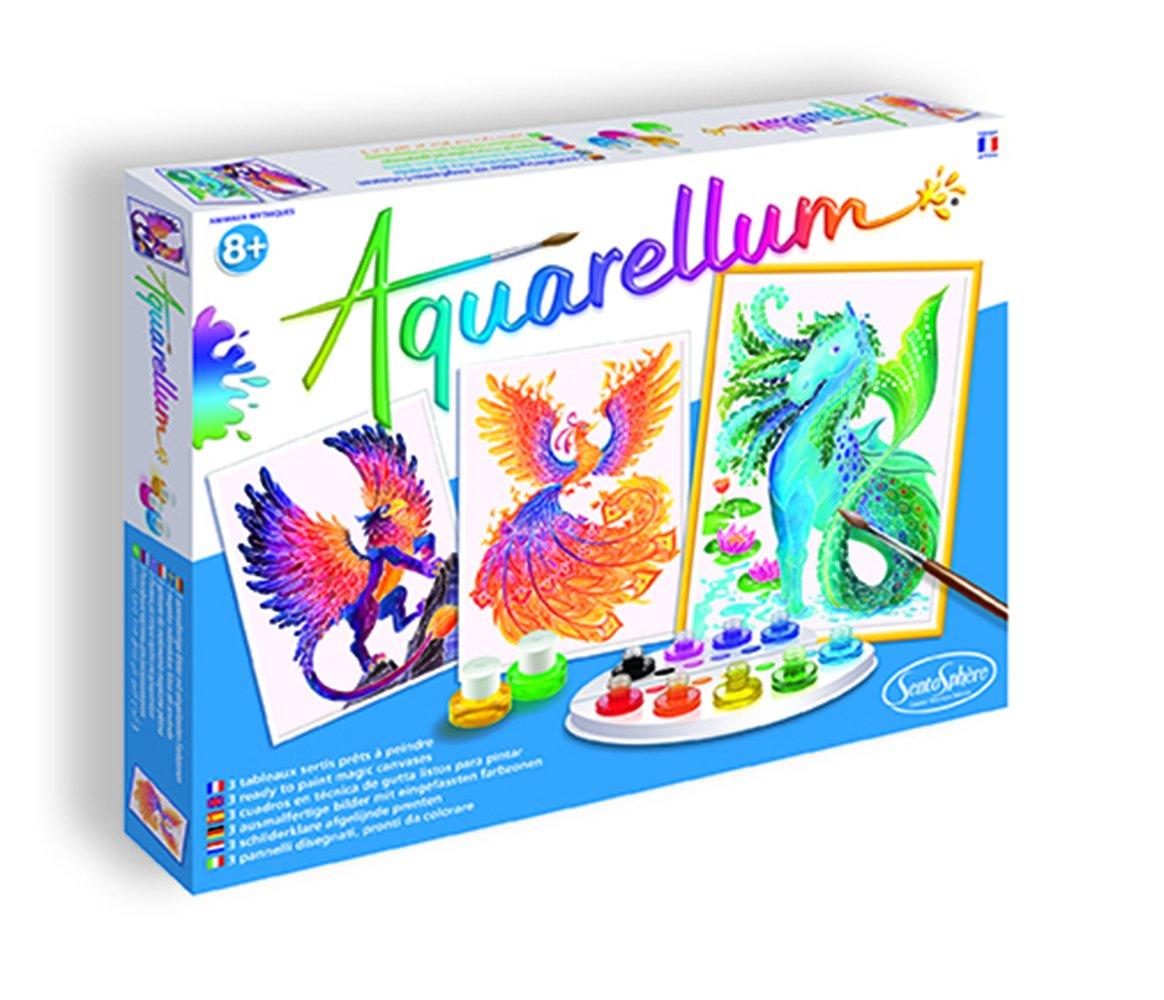 SentoSphere Aquarellum Mythical Animals Arts and Crafts Watercolor Paint Set Sento Sphere 3906390