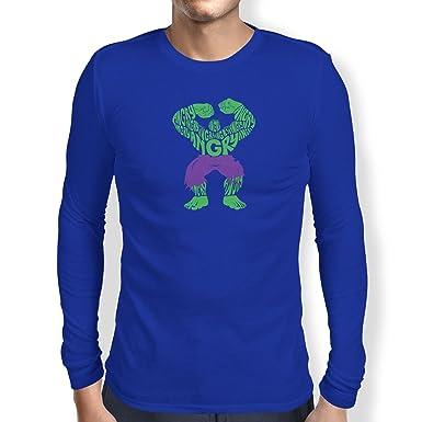 Texlab Angry - Herren Langarm T-Shirt, Größe XL, Marine