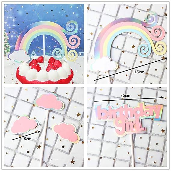 JeVenis - Juego de 5 decoraciones para tartas de cumpleaños ...