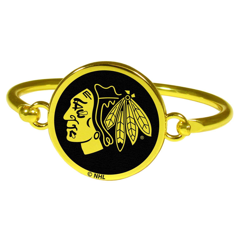 Siskiyou NHL Womens Gold Tone Bangle Bracelet