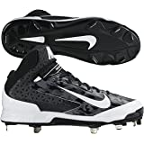 Nike Men's Air Huarache Pro MID Metal Baseball Cleat, Black/White Camo