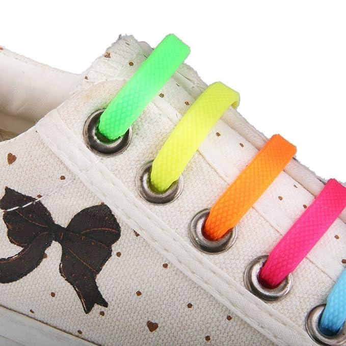 NUOLUX 12 Pz lacci senza nodi per scarpe bambini silicone merletto elastico impermeabile in silicone sneaker lacci VYEoZXK