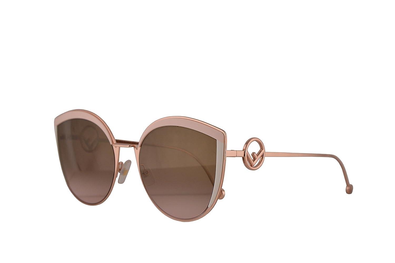 Amazon.com: Fendi ff0290/S anteojos de sol rosa w/café ...