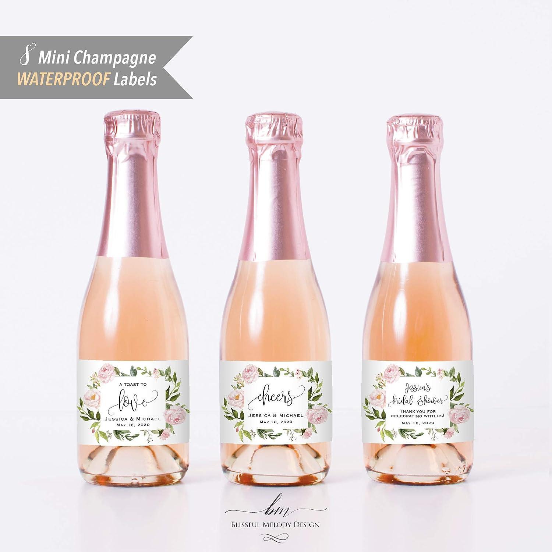 c92fceba96c0 Amazon.com: 8 Printed WATERPROOF Polyester Mini Champagne Bottle ...