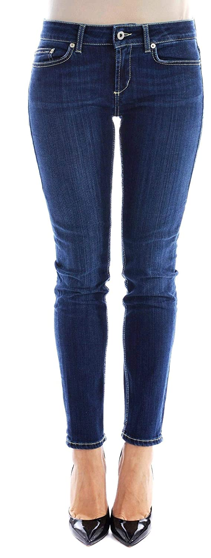 Dondup Womens P692DS0233V27800 Blue Cotton Jeans