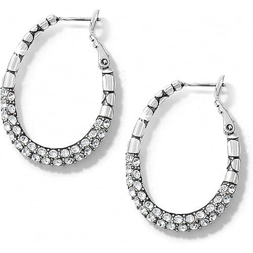 Brighton Pebble Pave Hoop Earrings