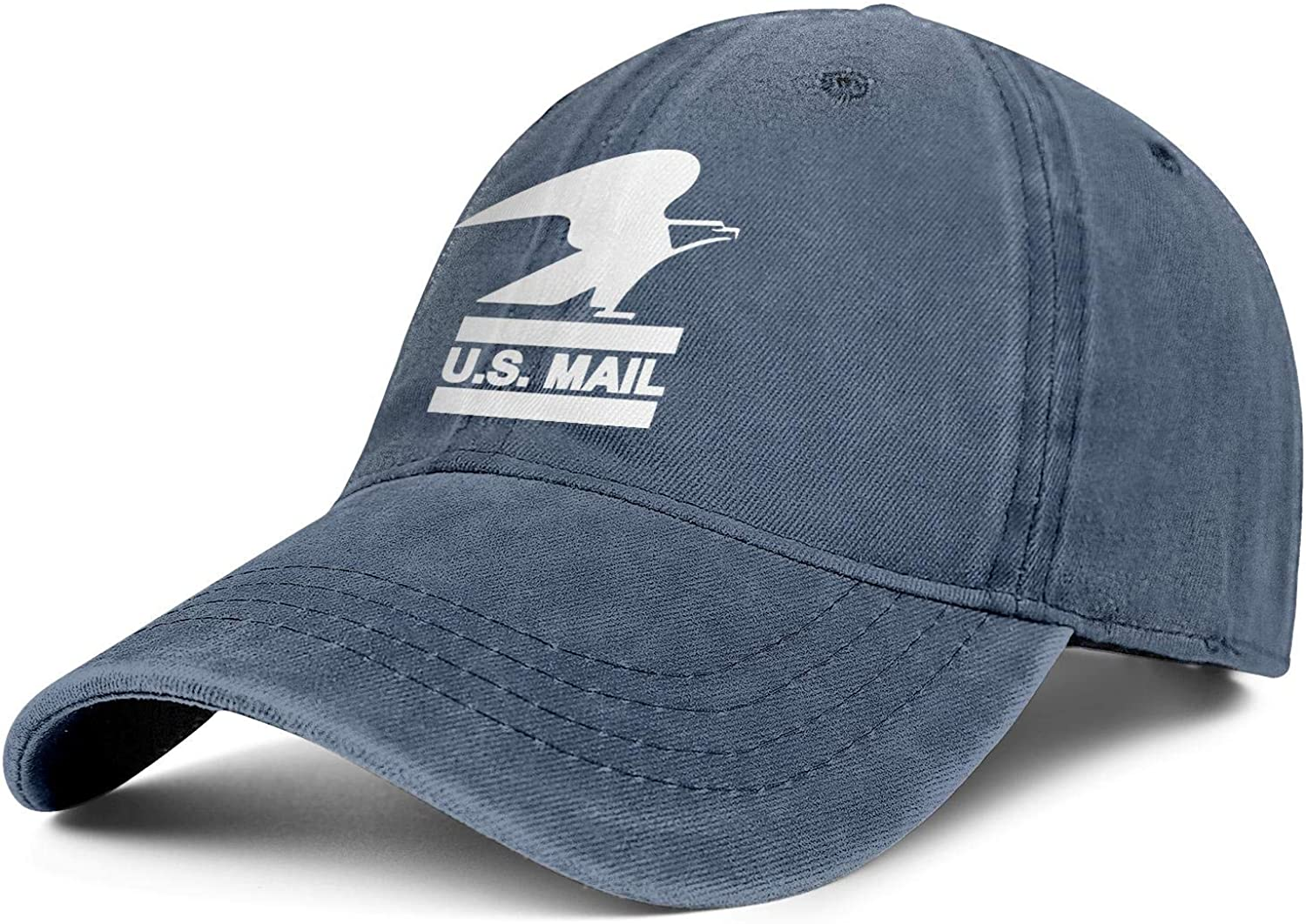 U.s-Mail-White-USPS-United-States-Postal-Service-Logo-Stylish Denim Adjustable Dad Dance Hat for Mens