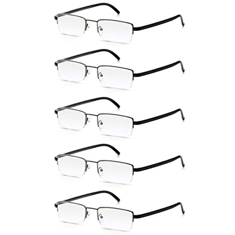 868dacbba1 5 Pack Reading Glasses 1.5  Multi-Pack of High Quality Read Optics Mens