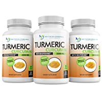 Turmeric Curcumin with Bioperine and Triphala - 2250mg/d - 540 Veggie Caps with Black Pepper Extract - 750mg Capsules -Turmeric Supplement