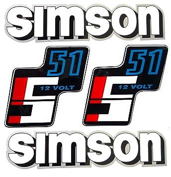 Aufkleber Klebefolien Set Simson Ws S51 12 Volt Form