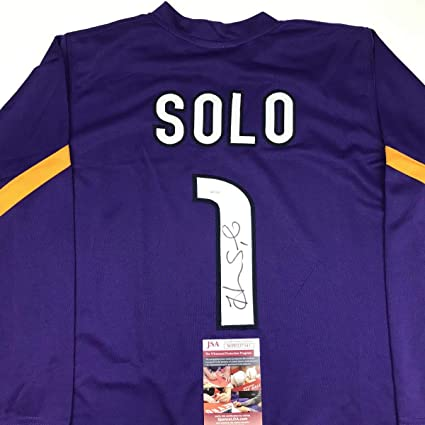 d22e86b7a1e Autographed Signed Hope Solo Purple Long Sleeve Soccer Team USA World Cup Jersey  JSA COA at Amazon s Sports Collectibles Store