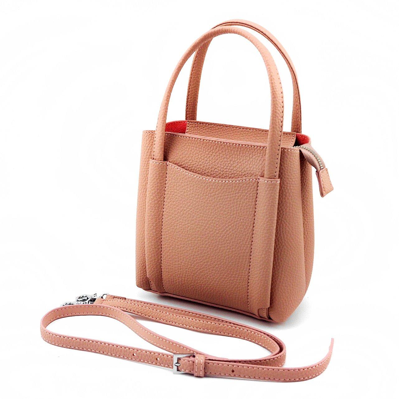 9e65113cc9b2e Jieway Women Small Basic PU Leather Fashion Handbag Top-handle Bag Tote Bag  Cross-body Bag