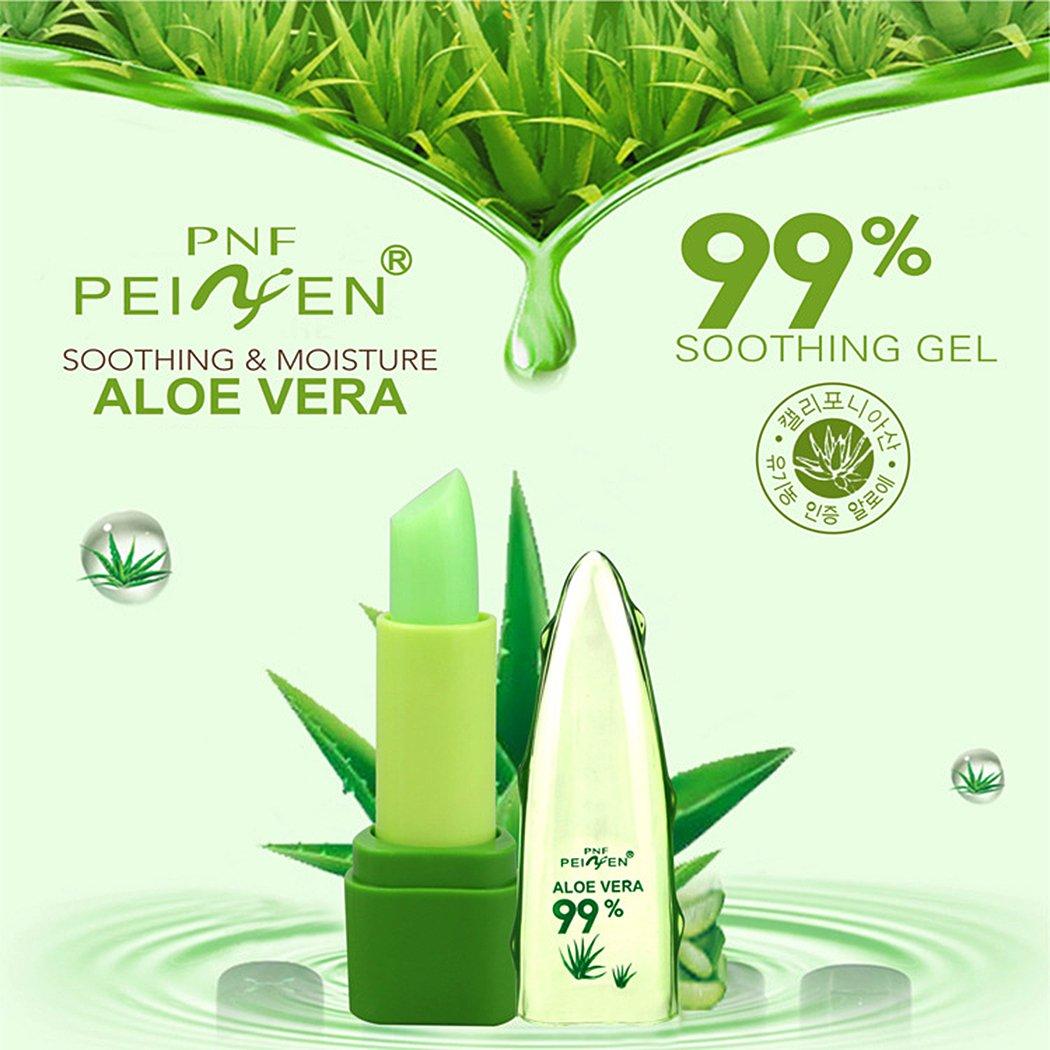 Cindere Natural Aloe Color Temperature Change Lip Long Lasting Moisturizer Lipsticks (1 PCS, Green)