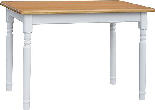 Mesa de comedor de 110 x 70 cm, mesa de cocina de madera maciza de ...