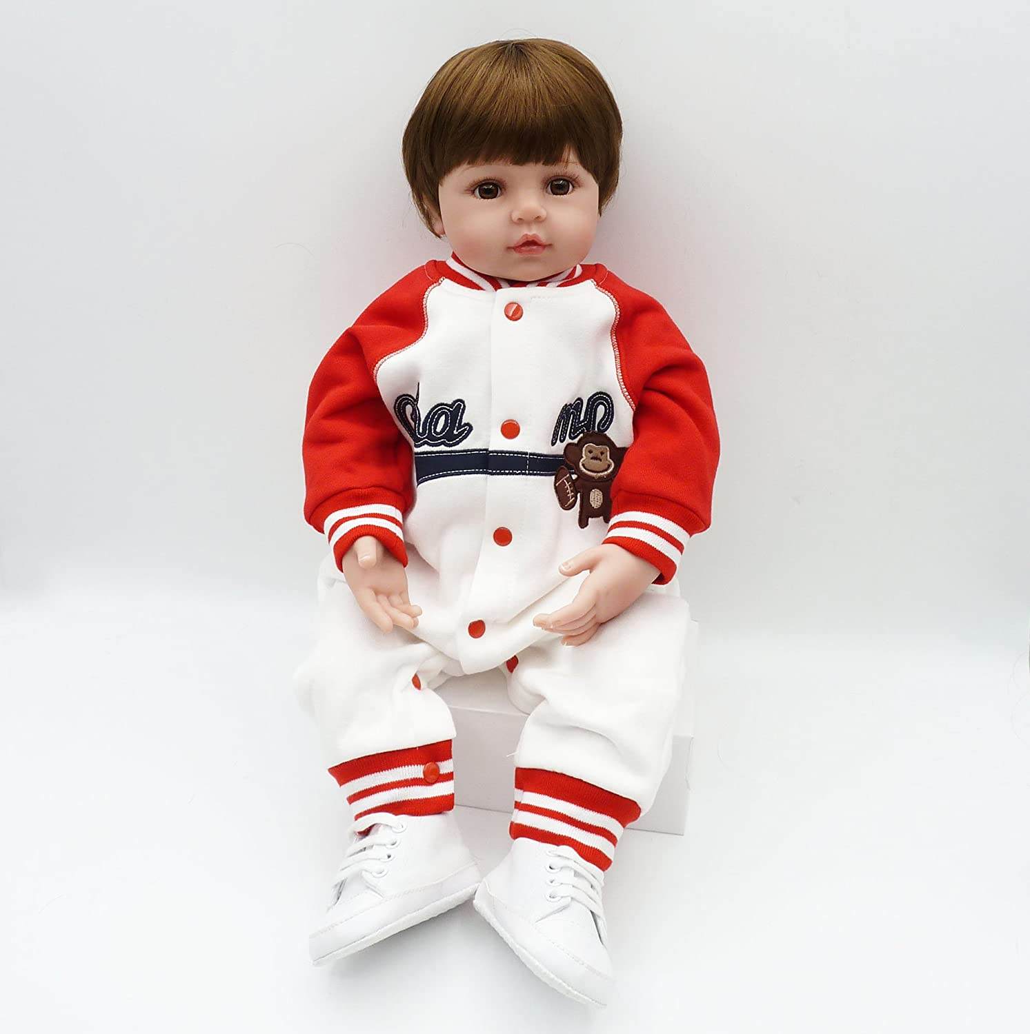 Pursue Baby Cute Floppy Body Lifelike Toddler Prince Doll Chinese