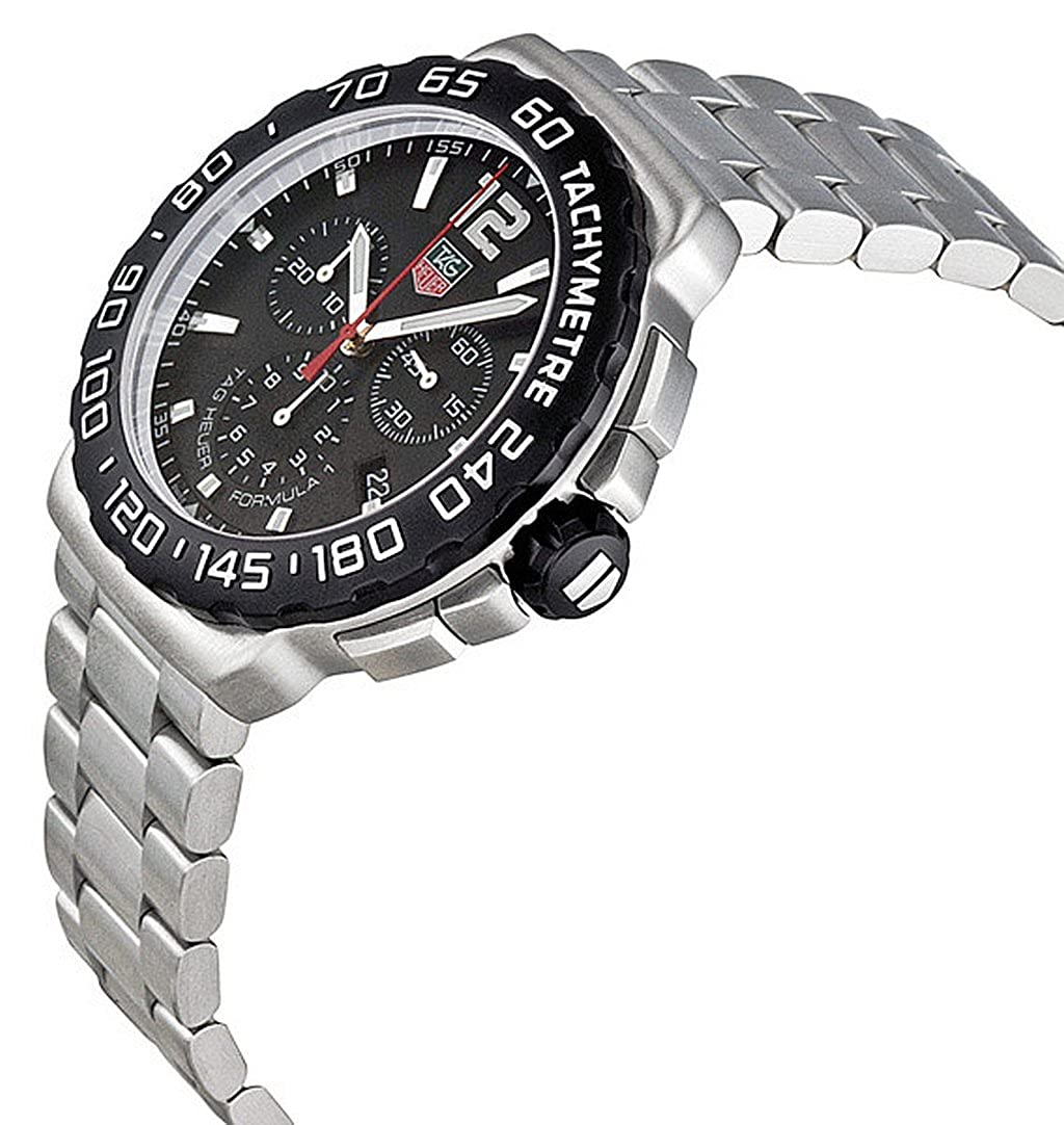 TAG Heuer Men s CAU1110.BA0858 Formula 1 Black Dial Chronograph Steel Watch