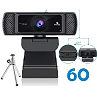 2020 Streaming 1080P 60FPS Webcam with Microphone, Built-in Privacy Cover and Tripod, NexiGo Pro USB HD Computer Web…
