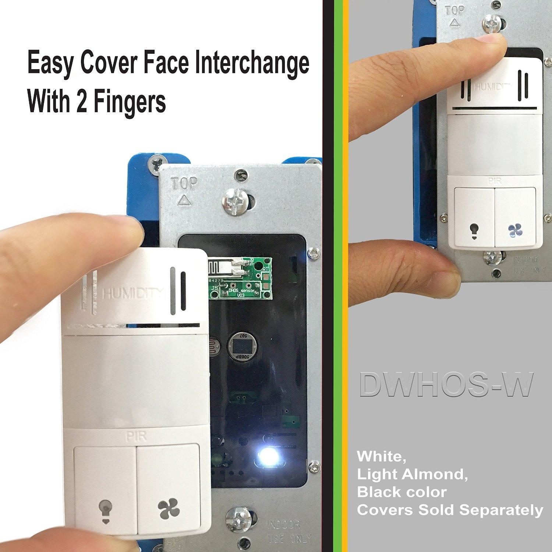 Interchangeable Face Cover For DWHOS PIR Humidity Sensor Bathroom - Humidity sensing bathroom fan for bathroom decor ideas