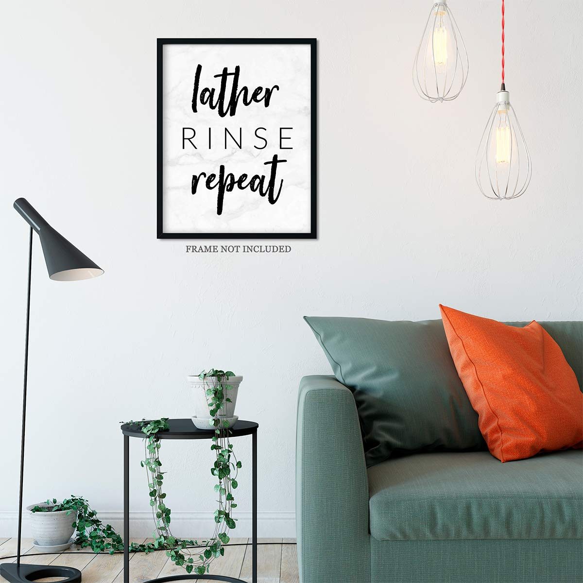 Amazon Com Lather Rinse Repeat Bathroom Wall Art Decor Print 11x14 Unframed Print Handmade